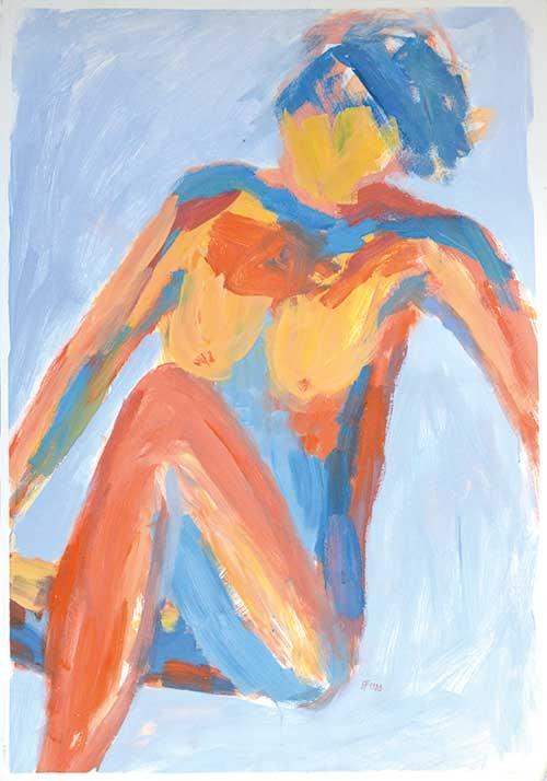 Tempera, Acryl, Pigment, 100x70 cm, 1983