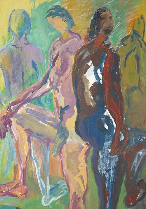 Tempera, Acryl, Pigment, 100x70cm, 1990