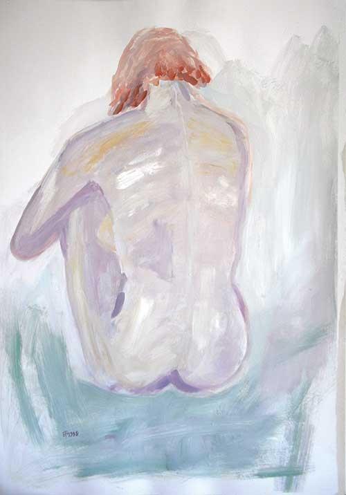 Tempera, Acryl, Pigment, 100x70 cm, 1998