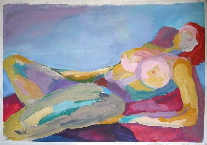 Tempera, Acryl, Pigment, 100x70 cm, 1980