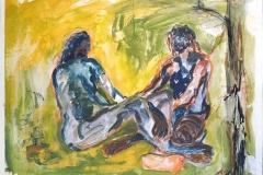 Tempera, 45x60 cm, 1990