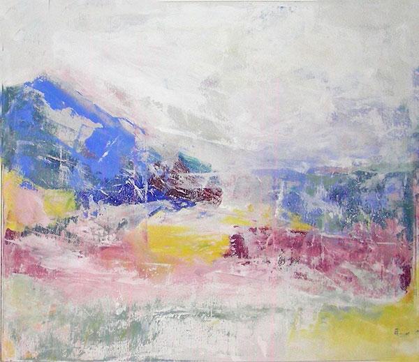 Gletscherschmelze, Acryl, Pigment, 120x100 cm, 2009