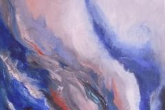 WolkenWellen, Öl, Acryl, 80x80 cm, 2014