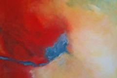 Abschied vom Sommer, Öl, Pigment, Acryl, 80x80 cm, 2013