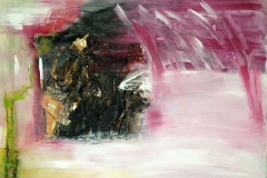 Phoenix, Collage, Birkenrinde, Pigment, Acryl, 70x100 cm, 2015