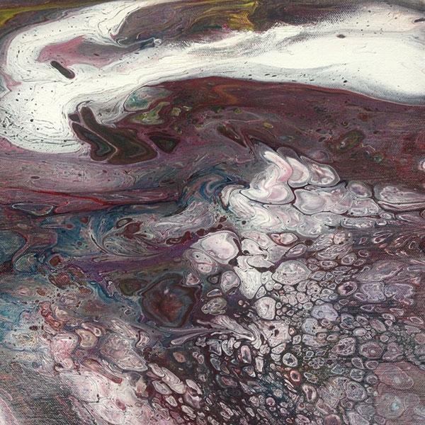 Elemente III, 2017, 30x30 cm, Liquid, Acryl auf Leinwand