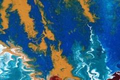 Elemente-V, 2018, 30x30 cm, Liquid, Acryl auf Leinwand