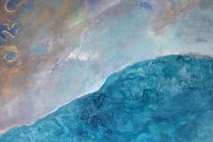 Gelobtes Land, 2018, 80x80 cm, Sumpfkalk, Acryl, Pigment auf Leinwand